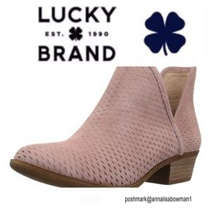 💙Lucky Brand blush ankle boot size 7
